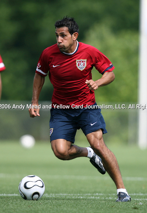 Pablo Mastroeni on Sunday, May 14th, 2006 at SAS Soccer Park in Cary, North Carolina. The United States Men's National Soccer Team held a training session as part of their preparations for the upcoming 2006 FIFA World Cup Finals being held in Germany.