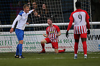 Scott Heard scores for Folkestone and celebrates during Enfield Town vs Folkestone Invicta, BetVictor League Premier Division Football at the Queen Elizabeth II Stadium on 16th November 2019