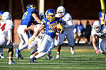 BROOKINGS, SD - NOVEMBER 12:  Isaac Wallace #35 from South Dakota State University scampers past the University of South Dakota in the first half at the Dana J. Dykhouse Stadium November 12, 2016 in Brookings, South Dakota. (Photo by Dave Eggen/Inertia)