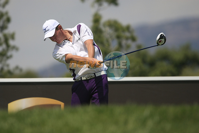 Daniel Gaunt (AUS) tees off on the 5th tee during Day 1 of the Open de Espana at Real Club De Golf El Prat, Terrasa, Barcelona, 5th May 2011. (Photo Eoin Clarke/Golffile 2011)