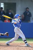 Kyle Barrett  (4) of the Kentucky Wildcats bats during a game against the UC Santa Barbara Gauchos at Caesar Uyesaka Stadium on March 20, 2015 in Santa Barbara, California. UC Santa Barbara defeated Kentucky, 10-3. (Larry Goren/Four Seam Images)