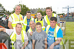 TOGETHER: The Ardfert Summer Harvest committee who had their hands full as they put on a show for the people of Ardfert and surrounding areas, on Saturday. Front l-r:  Martin Woulfe, Aiden and Dylan Duggan, Tom Long. Back l-r: Brendan Griffin, Mike McCarthy, David Wallace and Jeremiah Clifford..