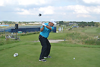 Damien McGrane (IRL) on the 10th tee during Round 2 of the KLM Open at Kennemer Golf &amp; Country Club on Friday 12th September 2014.<br /> Picture:  Thos Caffrey / www.golffile.ie