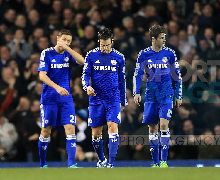 Chelsea's Cesc Fabregas looks on dejected after going 2-1 down<br /> <br /> Barclays Premier League - Tottenham Hotspur vs Chelsea - White Hart Lane  - England - 1st January 2015 - Picture David Klein/Sportimage