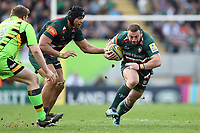 Greg Bateman of Leicester Tigers in possession. Aviva Premiership match, between Leicester Tigers and Northampton Saints on April 14, 2018 at Welford Road in Leicester, England. Photo by: Patrick Khachfe / JMP