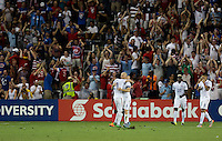 Kansas City, Kansas - Monday, July 13, 2015: The US Men's National team tie up the game 1-1 vs Panama early in the second half during group play in the 2015 Gold Cup at Sporting Park.