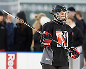 Autumn Prouty (NU - 10) - The Northeastern University Huskies practice on the ice at Fenway Park on Thursday, January 7, 2010, in Boston, Massachusetts.