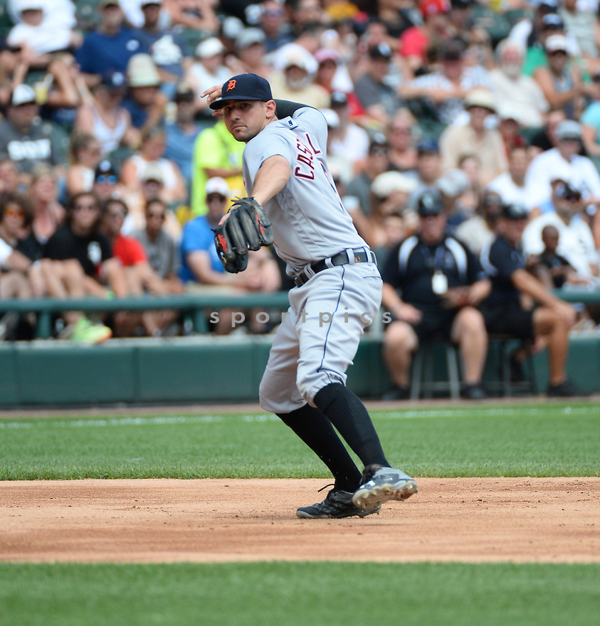 Detroit Tigers Nick Castellanos (9) during a game against the Chicago White Sox on July 24, 2016 at US Cellular Field in Chicago, IL. The White Sox beat the Tigers 5-4.