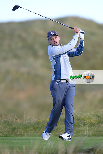 Keith Egan (Carton House) on the 2nd tee during Matchplay Round 3 of the South of Ireland Amateur Open Championship at LaHinch Golf Club on Saturday 25th July 2015.<br /> Picture:  Golffile | TJ Caffrey