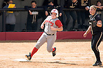 MADISON, WI - APRIL 15: Catcher Joey Daniels #3 of the Wisconsin Badgers gets a base hit against the Purdue Boilermakers at the Goodman Diamond softball field on April 15, 2007 in Madison, Wisconsin. (Photo by David Stluka)