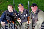 Members of the Irish DTL Clay Pigeon team, who were selected last Sunday afternoon at a national competition held in Knocknagoshal. Pictured l-r: Colm Dowling(Ballylongford), Joe Walsh(Listowel) and Darren Cotter(Castleisland).