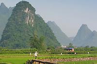 Asie, Chine, Guangxi, Rivière Li, Yangshuo..Photo : Vibert / Actionreporter.com - 33.1.42.52.73.86 - vibert@actionreporter.com