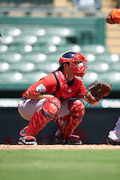 Boston Red Sox catcher Tyler Spoon (25) during an Instructional League game against the Baltimore Orioles on September 22, 2016 at the Ed Smith Stadium in Sarasota, Florida.  (Mike Janes/Four Seam Images)