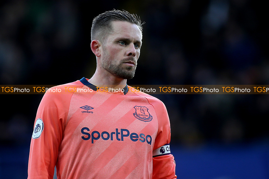 Everton captain, Gylfi Sigurdsson during Chelsea vs Everton, Premier League Football at Stamford Bridge on 8th March 2020