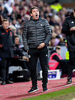 26th January 2020, Tynecastle Park, Edinburgh, Scotland; Scottish Premier League football, Hearts of Midlothian versus Rangers; Daniel Stendel manager of Hearts