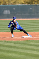 Alex Guerrero of the Los Angeles Dodgers participates in spring training workouts at Camelback Ranch on February 11, 2014 in Glendale, Arizona (Bill Mitchell)