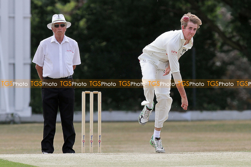 Matthew Quinn in bowling action for South Woodford - Wanstead CC (batting) vs South Woodford CC - Essex Cricket League - 04/06/11 - MANDATORY CREDIT: Gavin Ellis/TGSPHOTO - Self billing applies where appropriate - Tel: 0845 094 6026