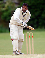 Chetan Patel bats for Hornsey during the Middlesex County Cricket League Division Three game between Hornsey and Wembley at Tivoli Road, Crouch End, London on Sat May 29, 2010