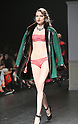 March 15, 2016, Tokyo, Japan - A model displays Japanese lingerie maker Peach John's collection in Tokyo on Tuesday, March 15, 2016 as a part of the Tokyo Fashion Week. Tokyo Fashion Week for 2016 autumn and winter collection is now held her  from March 14 through 19.  (Photo by Yoshio Tsunoda/AFLO) LWX -ytd-