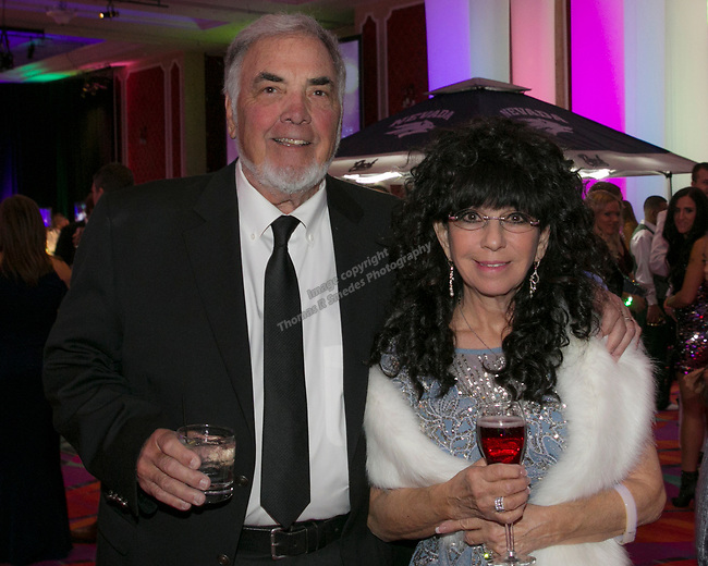 Dick and Mary Campagini during the 10th Annual Blue Tie Ball at the Peppermill Resort Spa Casino in Reno, NV on Friday night, Feb. 1, 2019.
