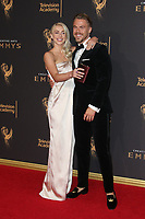 LOS ANGELES, CA - SEPTEMBER 09: Julianne Hough and Derek Hough at the 2017 Creative Arts Emmy Awards at Microsoft Theater on September 9, 2017 in Los Angeles, California. C