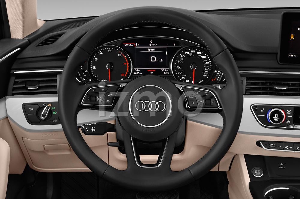 Car pictures of steering wheel view of a 2019 Audi A4 Premium 4 Door Sedan