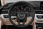 Car pictures of steering wheel view of a 2019 Audi A4 Premium 4 Door Sedan
