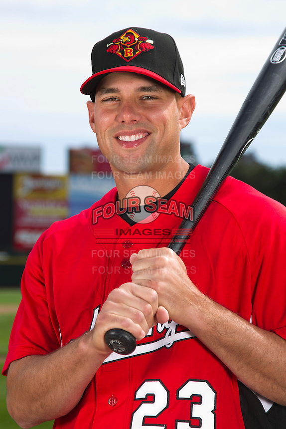 Rochester Red Wings infielder Michael Hollimon #23 poses for a photo during media day at Frontier Field on April 3, 2012 in Rochester, New York.  (Mike Janes/Four Seam Images)