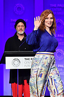"HOLLYWOOD, CA - MARCH 23: Our Lady J. and Ryan Murphy at PaleyFest 2019 for FX's ""Pose"" panel at the Dolby Theatre on March 23, 2019 in Hollywood, California. (Photo by Vince Bucci/FX/PictureGroup)"