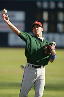 July 11 2009: Logan Watkins of the Boise Hawks before game against the Vancouver Canadians at Nat Bailey Stadium in Vancouver,BC..Photo by Larry Goren/Four Seam Images