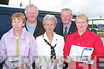 BACKING: Backing a winner at the Kerry General Hospital Night at the Dogs at Kingdom Greyhound Stadium, Tralee on Friday. Front l-r: Mary Hayes, Joan O'Mahony and Sadie O'Sullivan (Tralee). Back l-r: John Blennerhassett (Tralee) and Gerry Savage (Ballymacelligott)..