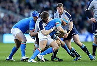 2019 Six Nations Championship Round 1, BT Murrayfield, Edinburgh, Scotland 2/2/2019 Scotland vs Italy Italy s Leonardo Ghiraldini is tackled by Ben Toolis of Scotland Leonardo Ghiraldini is tackled by Ben Toolis 2/2/2019 Foto INPHO/Imago/Ryan Byrne/Insidefoto