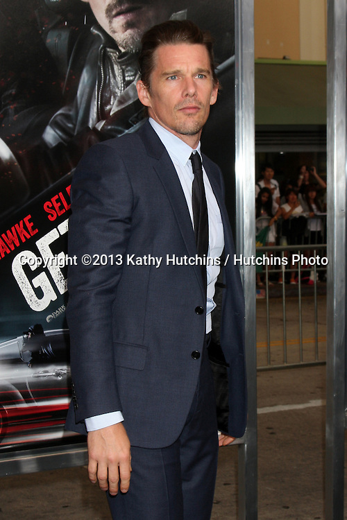 "LOS ANGELES - AUG 26:  Ethan Hawke at the ""Getaway"" Premiere at the Village Theater on August 26, 2013 in Westwood, CA"