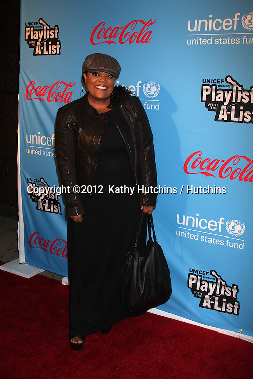 "LOS ANGELES - MAR 15:  Yvette Nicole Brown arrives at the ""UNICEF Playlist With The A-List"" Concert at the El Rey Theater on March 15, 2012 in Los Angeles, CA"