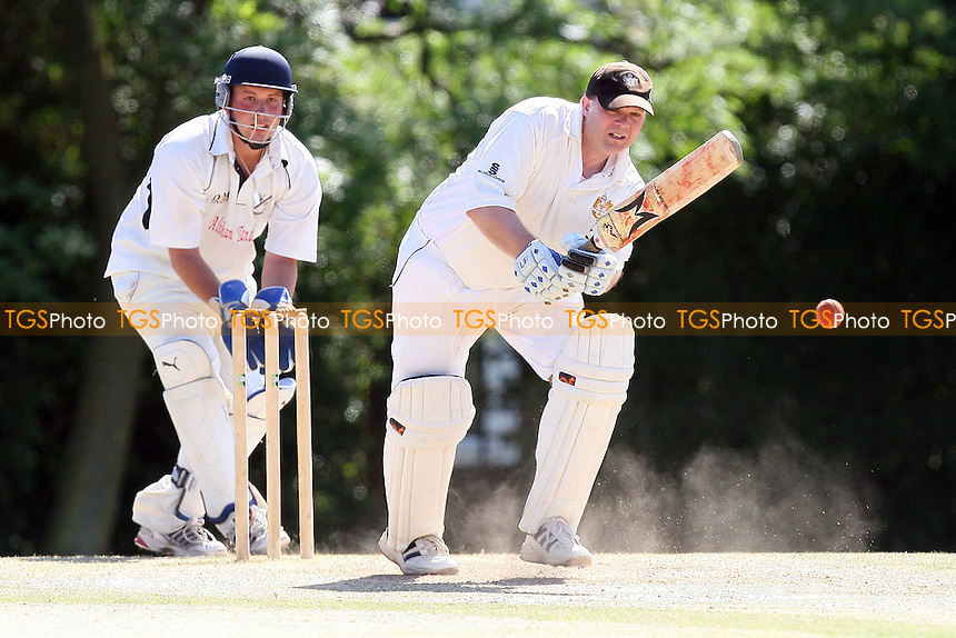 J Patient in batting action for GPR - Gidea Park & Romford CC 3rd XI vs Upminster CC 3rd XI - Essex Cricket League - 10/07/10 - MANDATORY CREDIT: Gavin Ellis/TGSPHOTO - Self billing applies where appropriate - Tel: 0845 094 6026