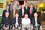 Jack Murphy, Donal McCarthy, Pat Looney, Sean Brosnan, Paudie O'Sullivan, Christy McCarthy, Mossie Cremin, Paddy Cronin, John Kelliher, Tim Long and Mike Moloney, pictured as they celebrated their retirements from Eircom in the Dromhall Hotel on Friday night.