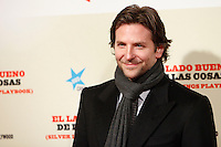Bradley Cooper attend 'Silver Linings Playbook' premiere at at Callao Cinema in Madrid, Spain. January 16, 2013. (ALTERPHOTOS/Caro Marin) /NortePhoto©
