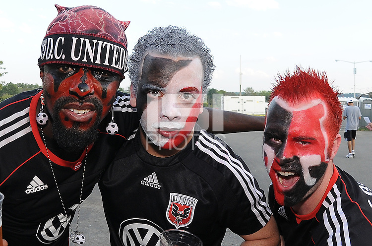 DC United fans.   The Houston Dynamo defeated DC United 3-1, at RFK Stadium, Saturday September 25, 2010.