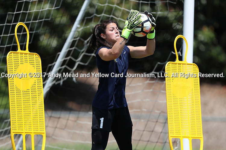 CARY, NC - MAY 10: Sabrina D'Angelo. The North Carolina Courage held a training session on May 10, 2017, at WakeMed Soccer Park Field 7 in Cary, NC.