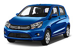 2015 Suzuki CELERIO Grand Luxe Xtra 5 Door Hatchback Angular Front stock photos of front three quarter view