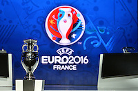 23.02.2013. Nice, France. UEFA Drawing fo the 2016 UEFA EURO Championships. The Championship trophy on display