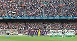 minuto de silencio en el Camp Nou antes de empezar el partido de Liga entre el FC Barcelona contra el Betis