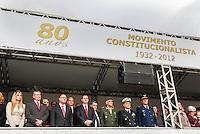 SAO PAULO, SP, 09 JULHO 2012 - 80 ANOS REVOLUCAO DE 1932 - Autoridadede durante solenidade alusiva ao 80º aniversario da Revolução Constitucionalista de 1932, na regiao do Parque do Ibirapuera, regiao sul da capital paulista, nesta segunda-feira, 09. (FOTO: VANESSA CARVALHO / BRAZIL PHOTO PRESS).