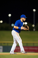 AZL Cubs third baseman Cam Balego (82) on defense against the AZL Diamondbacks on August 11, 2017 at Sloan Park in Mesa, Arizona. AZL Cubs defeated the AZL Diamondbacks 7-3. (Zachary Lucy/Four Seam Images)