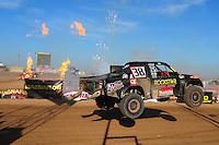 Apr 16, 2011; Surprise, AZ USA; LOORRS driver Brian Deegan (38) during round 3 at Speedworld Off Road Park. Mandatory Credit: Mark J. Rebilas-
