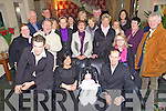 Christening - Michelle Conway, Limerick and Jerry Kirby from Causeway, seated centre celebrating the christening of their daughter Tara with family and friends in The Ballyroe Heights Hotel on Sunday following the ceremony in St John's Church Causeway..................................................................................................................................................................................................................................................................................................................... ............