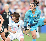 Mana Iwabuchi (JPN), Hope Solo (USA), JUNE 2, 2016 - Football / Soccer : Women's International Friendly match between United States 3-3 Japan at Dick's Sporting Goods Park in Commerce City, Colorado, United States. (Photo by AFLO)