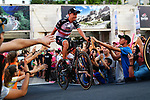 Fabio Aru (ITA) UAE Team Emirates arrives on stage at the Team Presentation before the 101st edition of the Giro d'Italia 2018. Jerusalem, Israel. 3rd May 2018.<br /> Picture: LaPresse/Gian Mattia D'Alberto | Cyclefile<br /> <br /> <br /> All photos usage must carry mandatory copyright credit (&copy; Cyclefile | LaPresse/Gian Mattia D'Alberto)