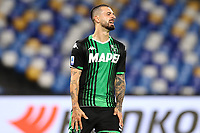 Francesco Caputo US Sassuolo dejection<br /> during the Serie A football match between SSC  Napoli and US Sassuolo at stadio San Paolo in Naples ( Italy ), July 25th, 2020. Play resumes behind closed doors following the outbreak of the coronavirus disease. <br /> Photo Cesare Purini / Insidefoto