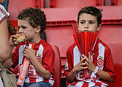 June 4th 2017, Estadi Montilivi,  Girona, Catalonia, Spain; Spanish Segunda División Football, Girona versus Zaragoza; Two young children waiting for the match to begin